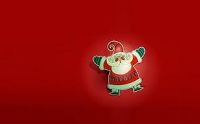 Картинка праздник, новый год, вектор, арт, дед мороз, детская