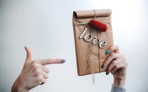 Обои подарок, love, heart, romantic, gift