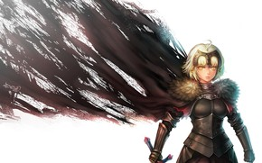 Картинка девушка, фон, рыцарь, Fate / Grand Order