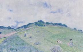 Картинка пейзаж, картина, Frederick Carl Frieseke, Фридрих Карл Фриске, Холмы в Живерни