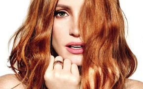 Картинка взгляд, актриса, рыжая, рыжеволосая, Jessica Chastain