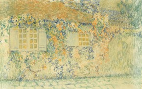 Картинка дом, улица, рисунок, Henri Le Sedaner, Студия. Жерберуа, Анри Ле Сиданэ