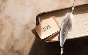 Картинка перо, книга, love, vintage, i love you, heart, romantic, book
