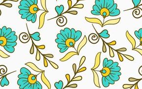 Обои seamless, паттерн, бесшовный, Цветы, Floral, pattern
