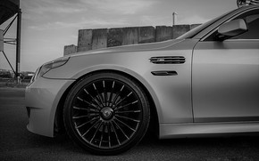 Обои Alpina B3 Biturbo, M5, powered by M, BMW M5, BLACK, Grey, BMW, Alpina