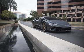 Картинка Lamborghini, City, Gray, VAG, Huracan, Sight