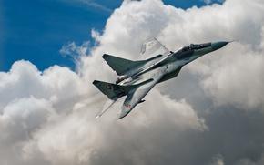 Обои МиГ-29, ВВС Словакии, истребитель, небо, MiG-29