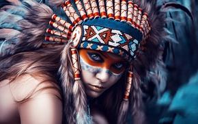 Картинка девушка, стиль, портрет, фотограф, Индейцы, Art, Dmitry Arhar