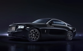 Обои купе, Wraith Black Badge, Rolls-Royce, представителький