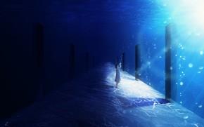 Обои девушка, под водой, Y_Y