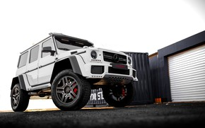 Картинка white, mercedes, g63, by-design