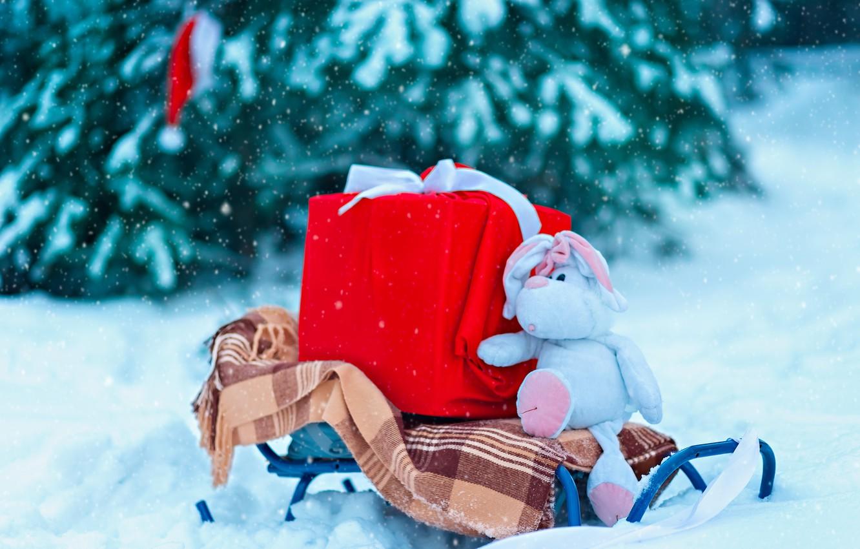 Подарки на снегу картинки