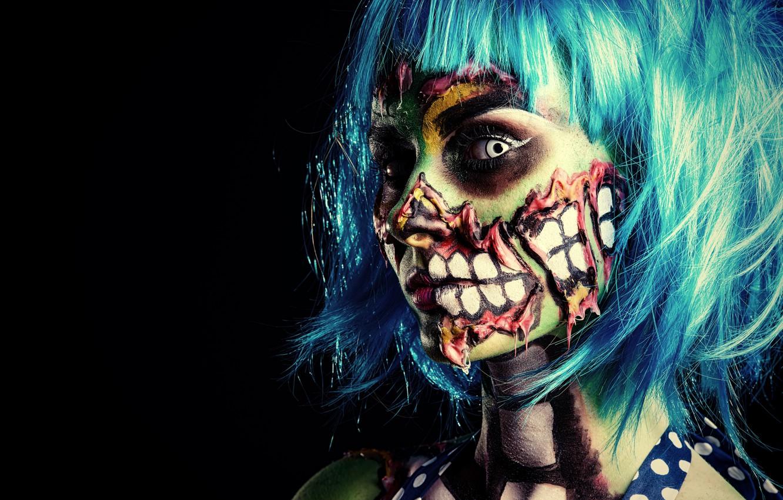 Фото обои zombie, model, pose, make up