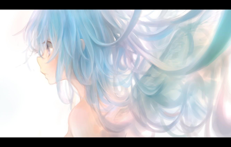 Фото обои девушка, крылья, аниме, арт, профиль, milkuro, mari