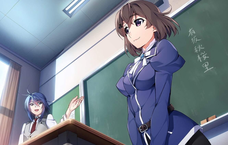 Фото обои девушка, школа, учитель, Grisaia: Phantom Trigger