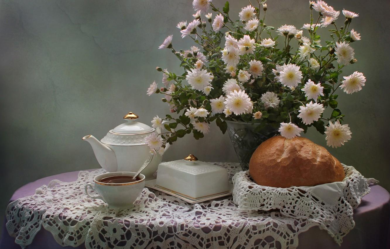 Обои цветы, чай, натюрморт. Разное foto 8