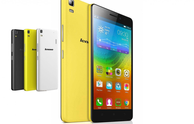 Фото обои белый, жёлтый, чёрный, Lenovo, smartfoni