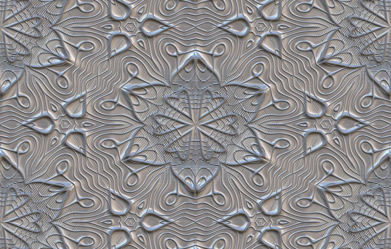 Фото обои цветы, серый, фон, узор, текстура, орнамент, texture, gray, metalic