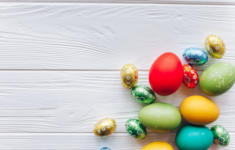 Фото обои яйца, весна, colorful, Пасха, wood, spring, Easter, eggs, decoration, Happy