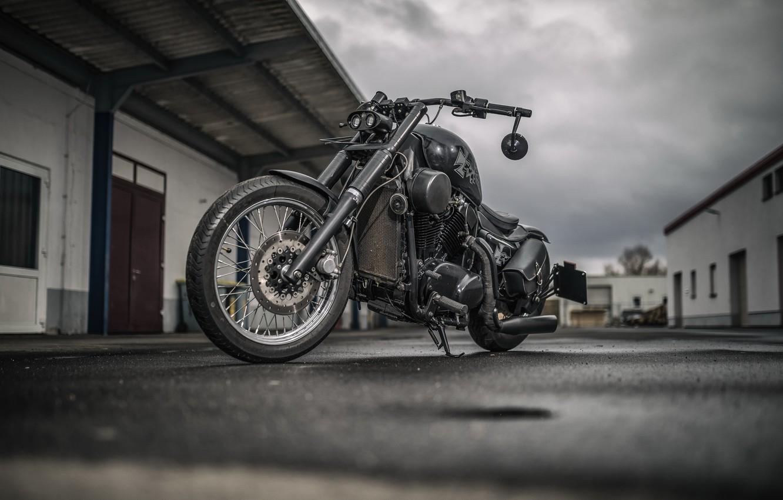 Фото обои фон, мотоцикл, Kawasaki VN 1500