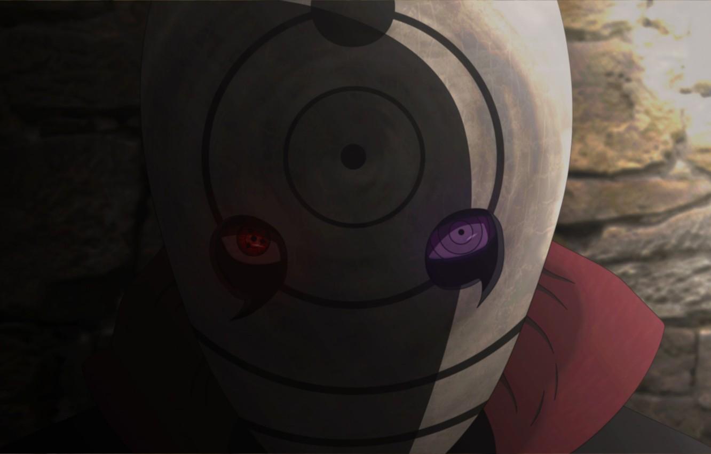 Фото обои Sharingan, mask, shadow, Naruto Shippuuden, Rinnegan, tobi