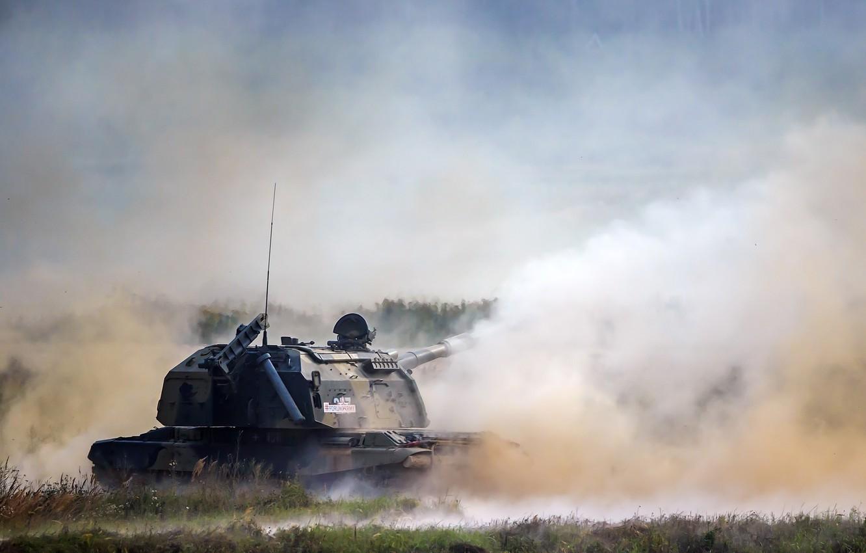 Фото обои самоходная, 152-мм, Мста-С, дивизионная, советская и российская, гаубица.