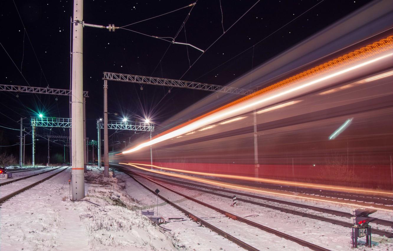Обои ночь, Железная дорога. Разное foto 13