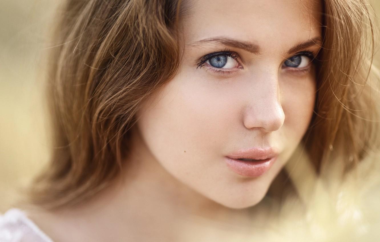 Фото обои взгляд, девушка, портрет, Сергей Сорокин