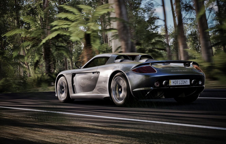 Фото обои дорога, скорость, суперкар, Carrera, Porsche Carrera GT