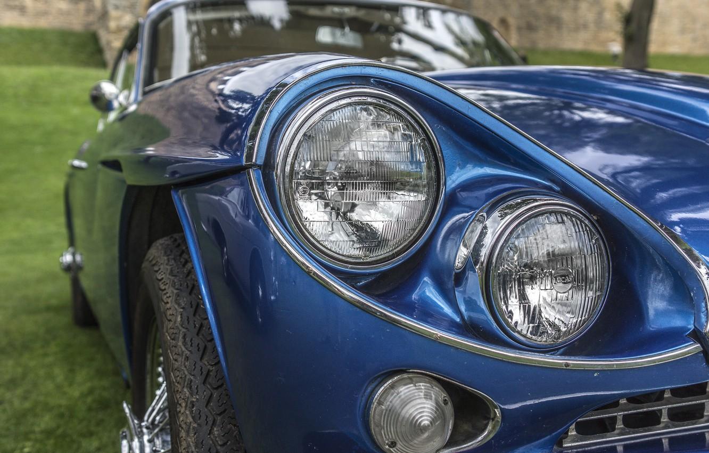 Фото обои ретро, фары, классика, Gran Turismo, Jensen C-V8 MKII, Jensen C-V8