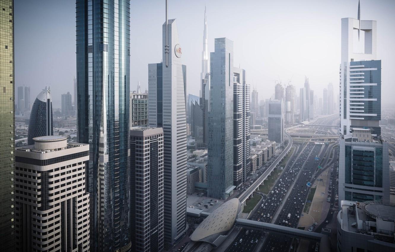 Фото обои город, Дубай, ОАЭ, улца