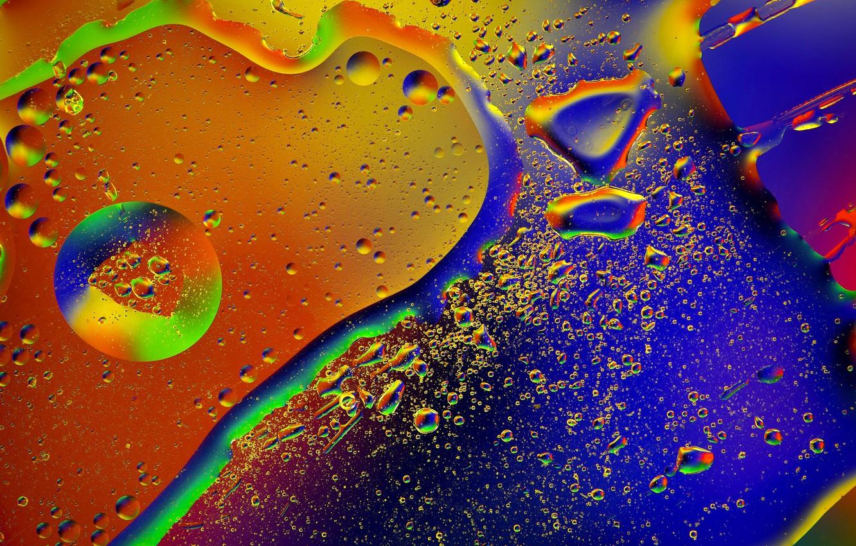Фото обои стекло, капли, макро, абстракция, масло