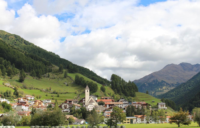 Фото обои Панорама, Италия, Пейзаж, Italy, Italia, Panorama, Больцано, Resia, Резия