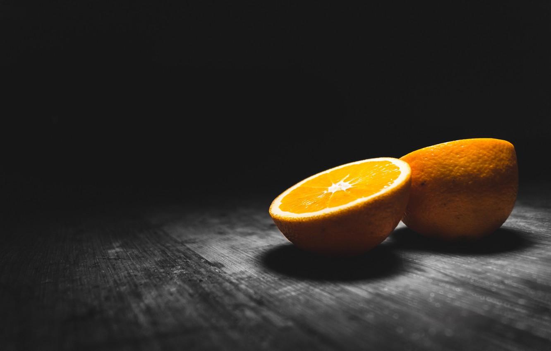 Картинки апельсина на черном фоне