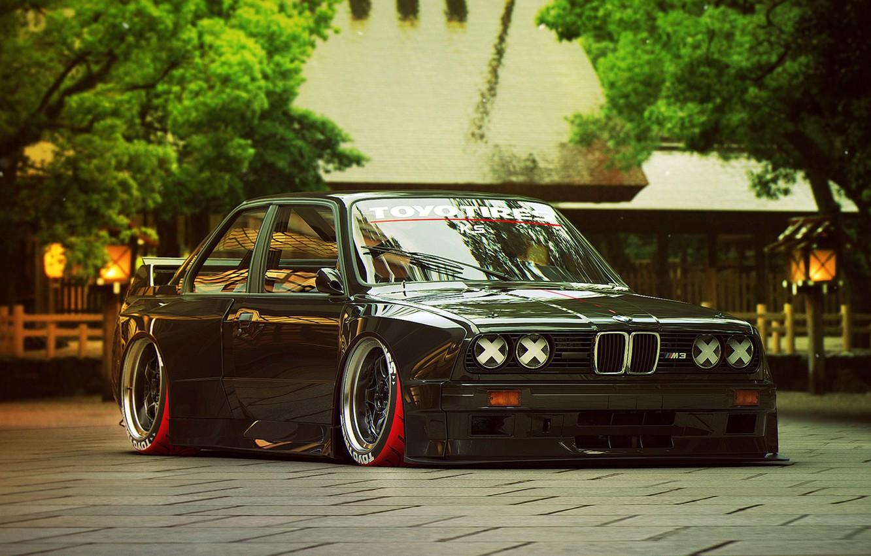 Фото обои BMW, Tuning, Future, E30, by Khyzyl Saleem