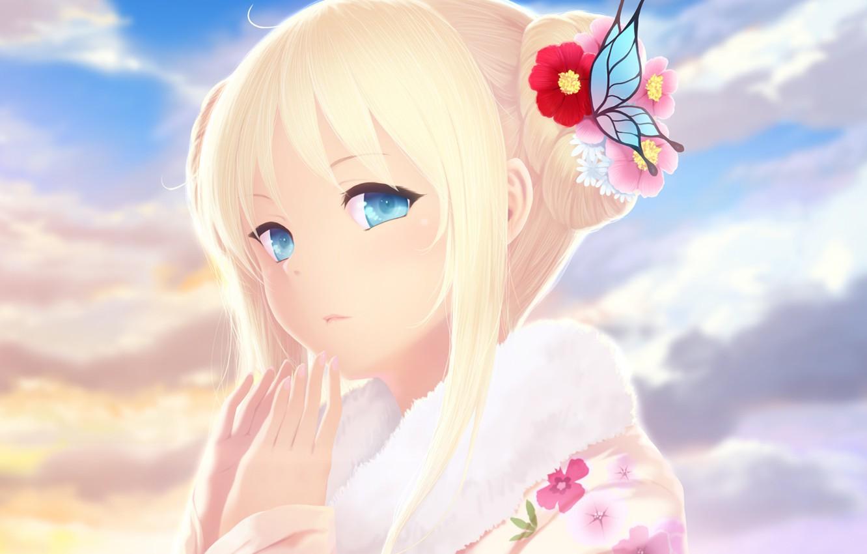 Красивые аниме картинки блондинок дети