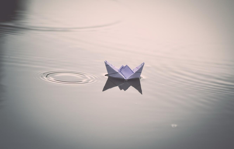 Фото обои вода, фон, корабль