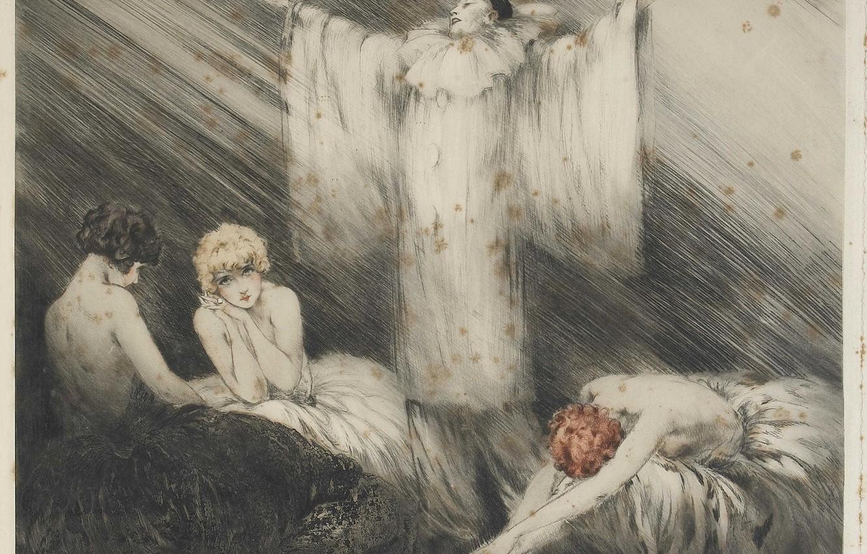 Фото обои актер, актрисы, 1928, Louis Icart, Поэма