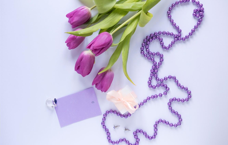 Фото обои цветы, подарок, букет, тюльпаны, love, fresh, flowers, romantic, tulips, gift, spring, purple, with love