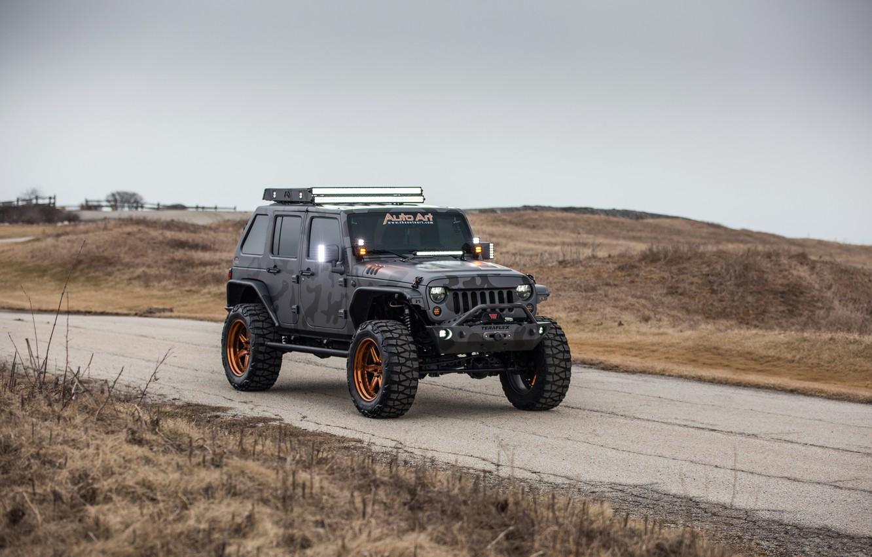 Фото обои Wrangler, Jeep, Unlimited, 4-door, 2015, 3.6L