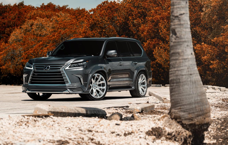 Фото обои Lexus, Japan, Gray, LX570