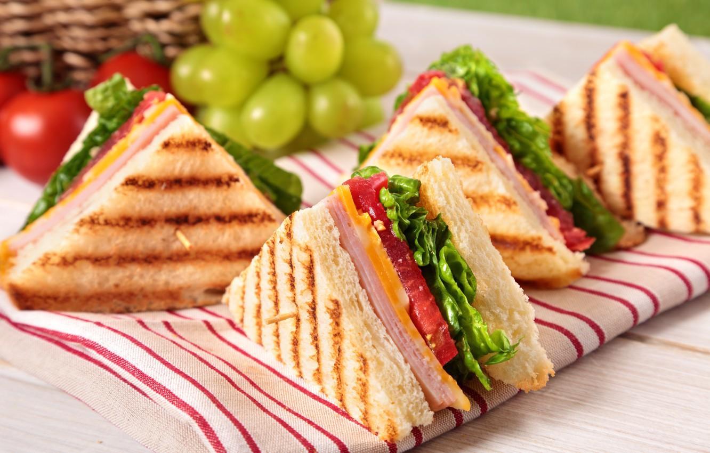 Фото обои сыр, хлеб, тосты, бутерброды, ветчина