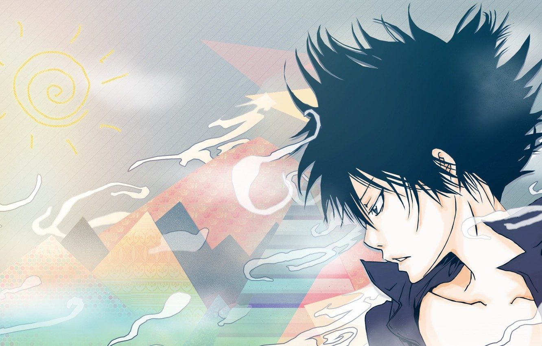 Фото обои аниме, арт, парень, Katekyo Hitman REBORN!, Hibari Kyoya
