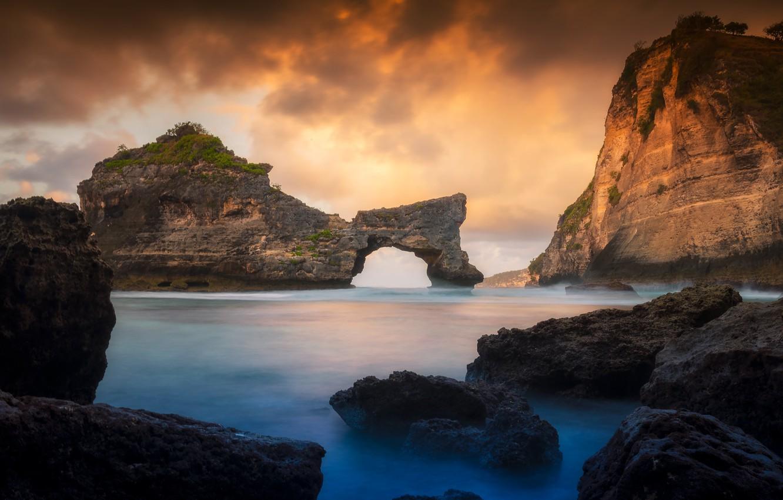 Фото обои песок, море, пляж, лето, небо, закат, камни, скалы, берег, summer, beach, sky, sea, sunset, seascape, …