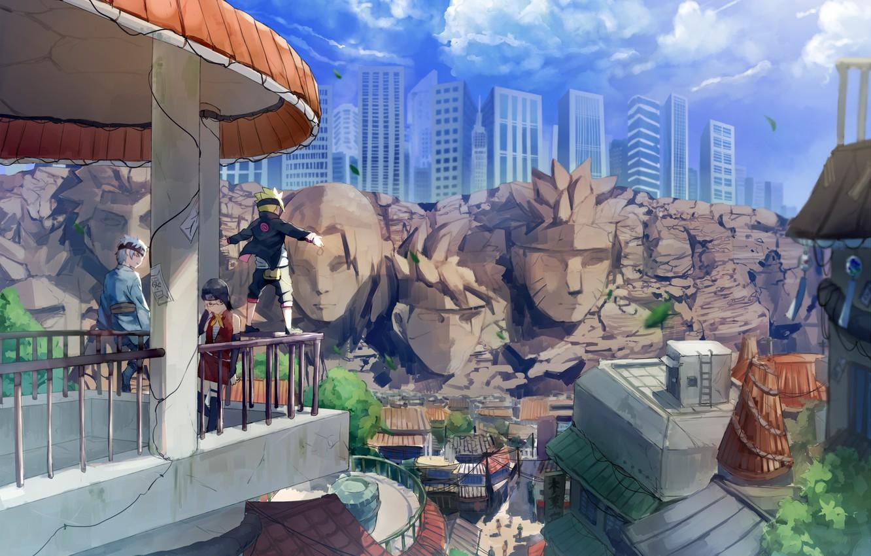 Фото обои Naruto, ninja, asian, Uchiha, Uzumaki, hokage, shinobi, sensei, japanese, hitaiate, Sarada, Boruto, Mituki, Boruto: Naruto …
