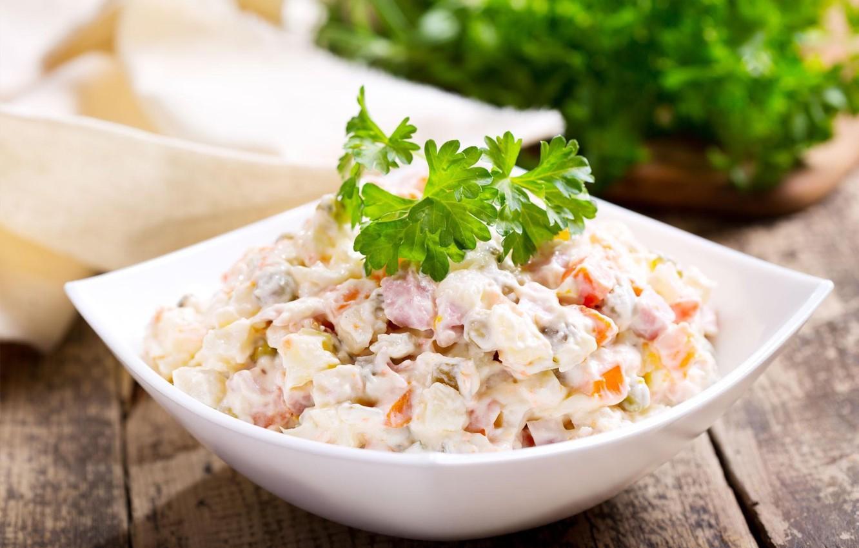 Фото обои петрушка, салат, оливье