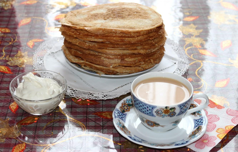 Открытки чай с блинами, открытка