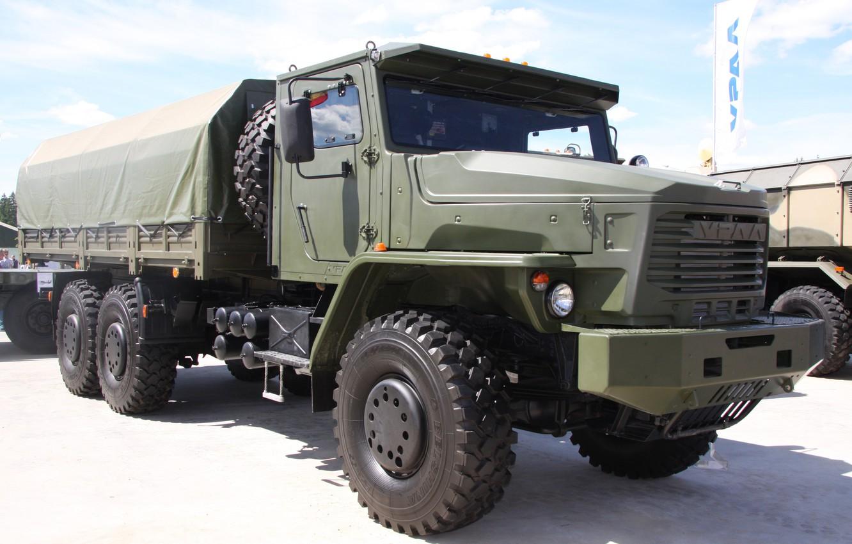 Фото обои грузовик, Урал, 6x6, Торнадо-У, 63704-0010