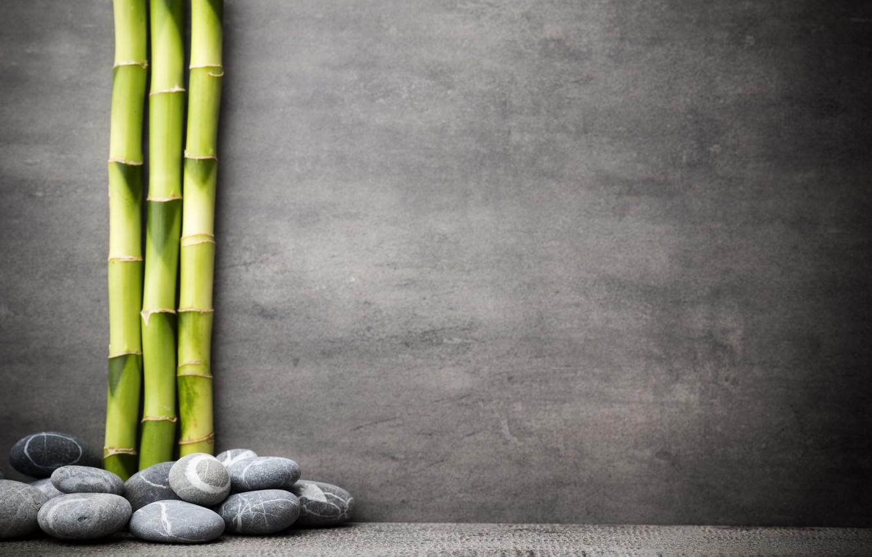 Фото обои камни, бамбук, stones, bamboo, spa, zen