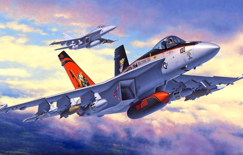 Обои палубный многоцелевой истребитель, super hornet, boeing, f/a-18f. Авиация foto 9